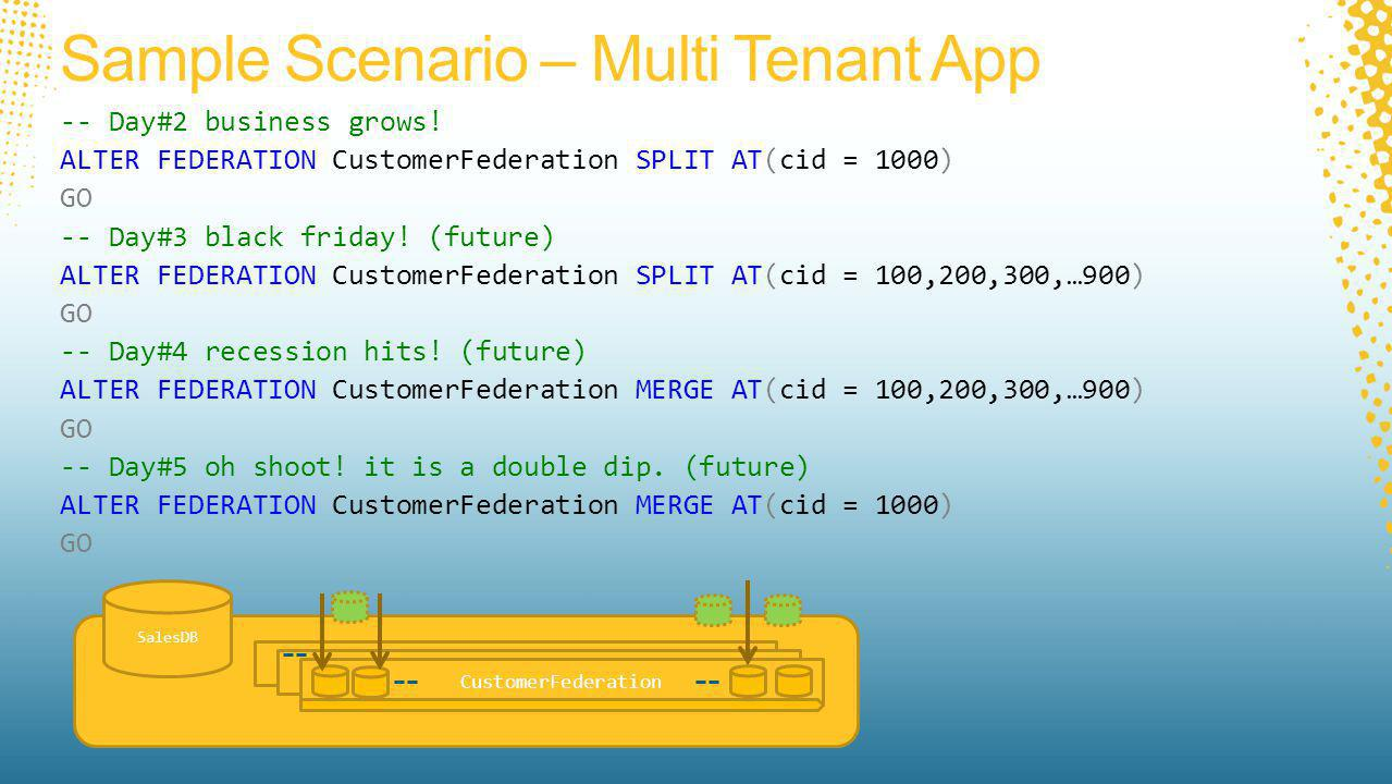 Sample Scenario – Multi Tenant App -- Day#2 business grows.