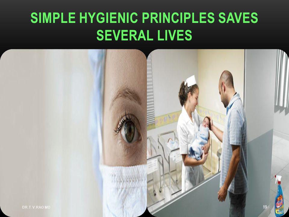 SIMPLE HYGIENIC PRINCIPLES SAVES SEVERAL LIVES DR.T.V.RAO MD 19