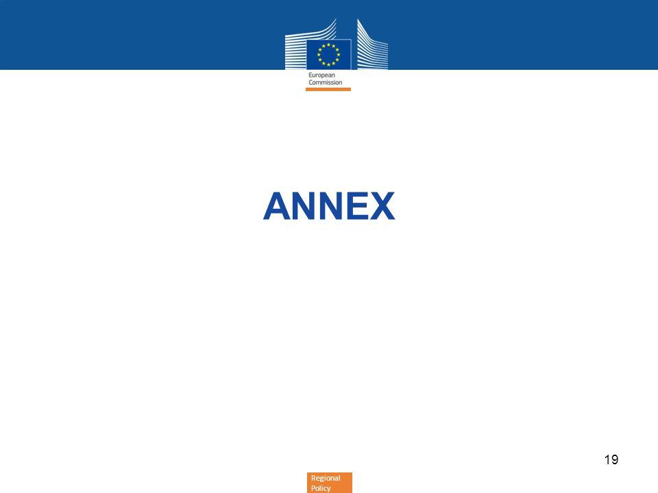 Regional Policy ANNEX 19