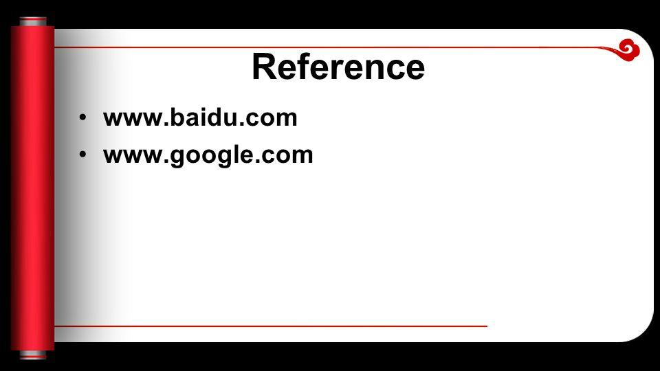 Reference www.baidu.com www.google.com
