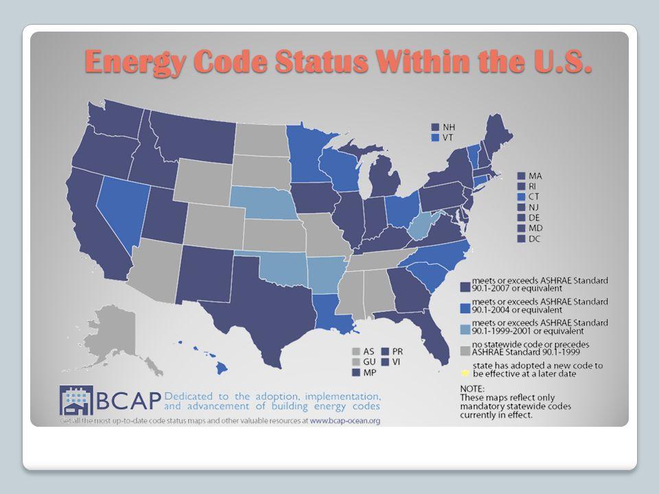 Energy Code Status Within the U.S.