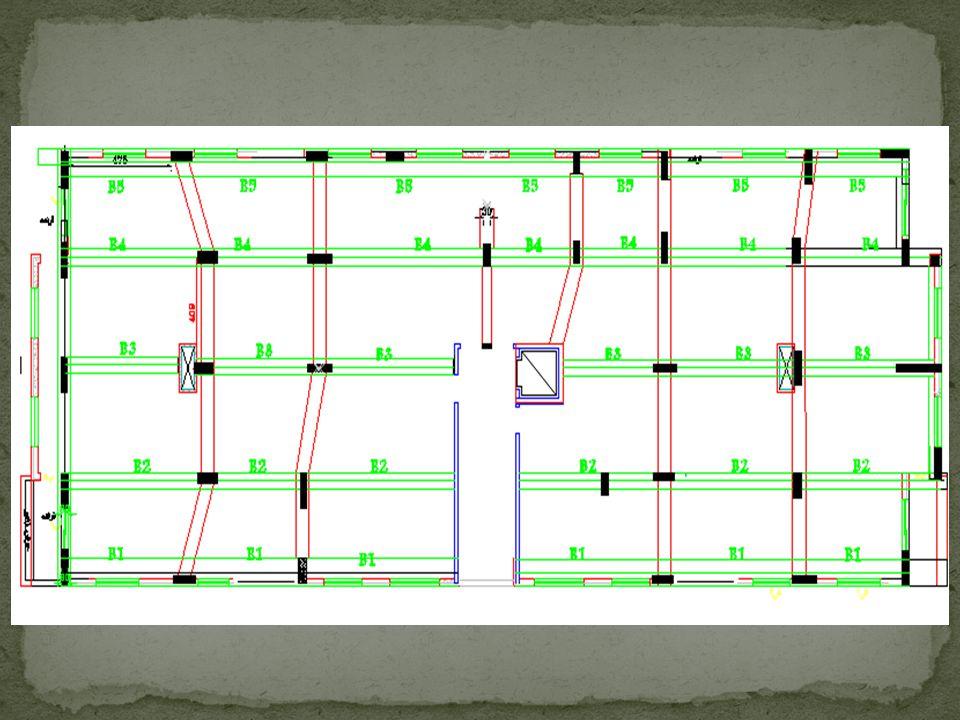 Design of exterior beams Let b = 40 cm, = 0.012 Ln,max = 6.85m Wu = 31*(3.55-0.6/2)+22+25*o.4*0.8 = 72 KN Mu max = Wu*Ln 2 /10 = 336KN.m d² = Mn/Rb d = 540mm, cover = 60mm, h = 600mm beam weight = 0.4*(0.6-0.2)*25*1.2 = 4.8KN/m Wu = 73KN/m