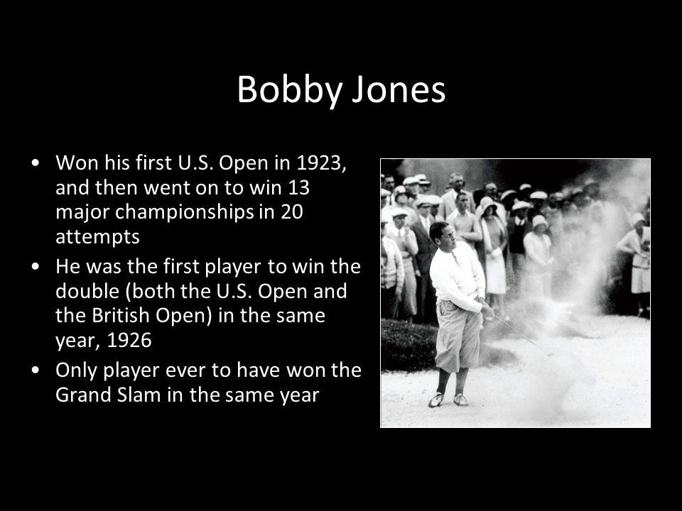Bobby Jones Won his first U.S.