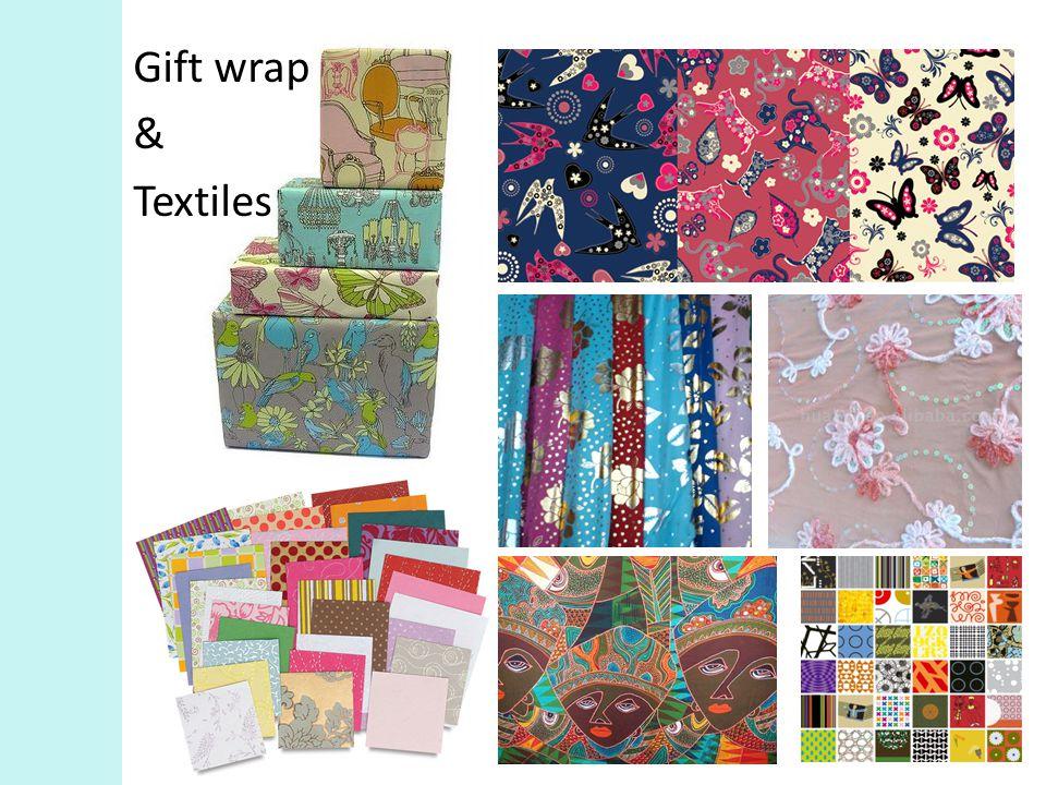 Gift wrap & Textiles