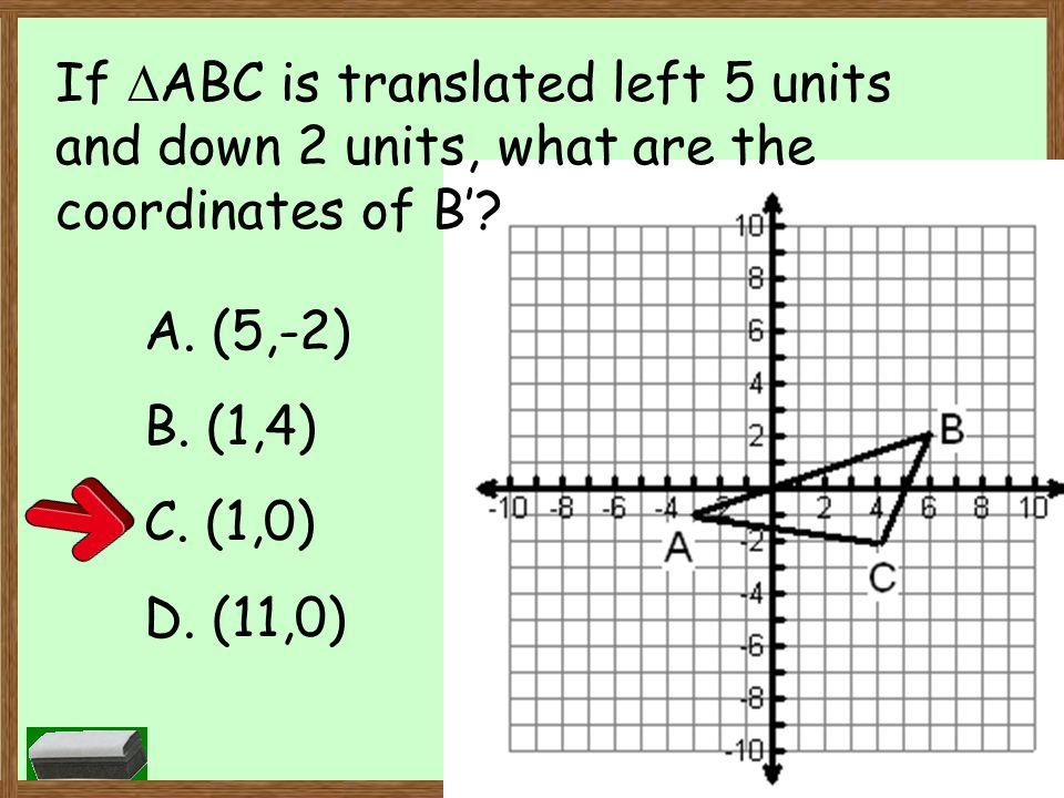 A. (5,-2) B. (1,4) C. (1,0) D. (11,0)