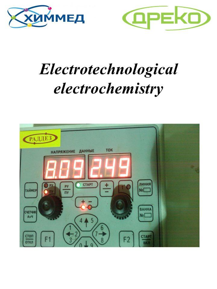 Electrotechnological electrochemistry