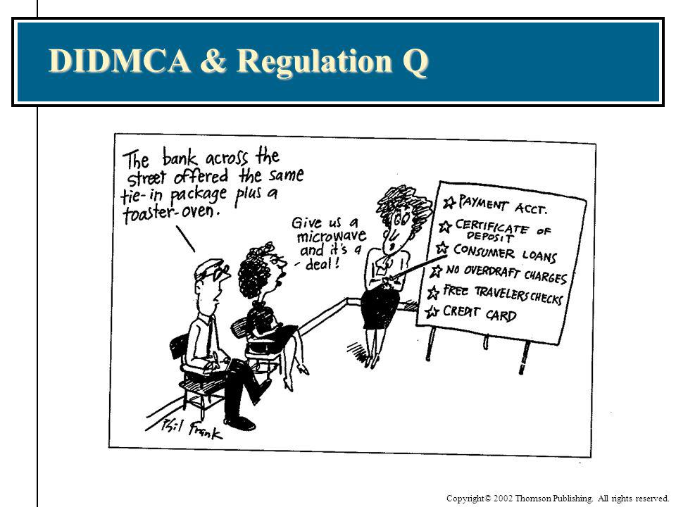 Copyright© 2002 Thomson Publishing. All rights reserved. DIDMCA & Regulation Q