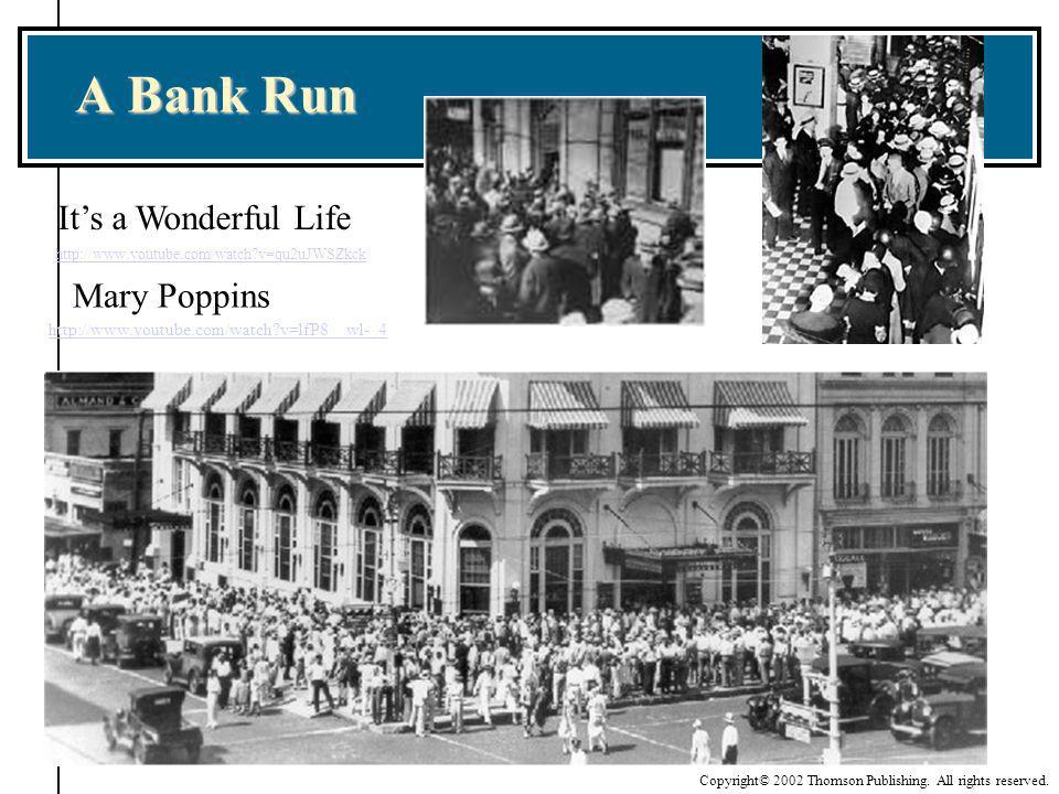 A Bank Run http://www.youtube.com/watch?v=qu2uJWSZkck Its a Wonderful Life Mary Poppins http://www.youtube.com/watch?v=lfP8__wl-_4