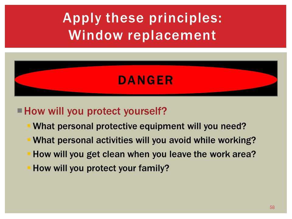 How will you protect yourself.What personal protective equipment will you need.