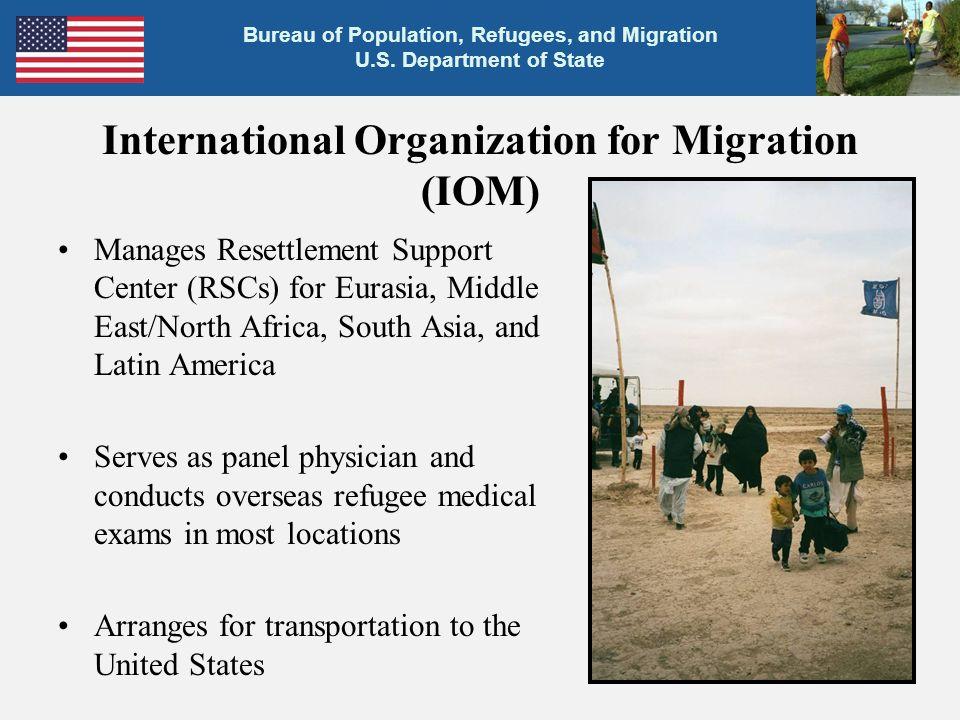 Bureau of Population, Refugees, and Migration U.S.