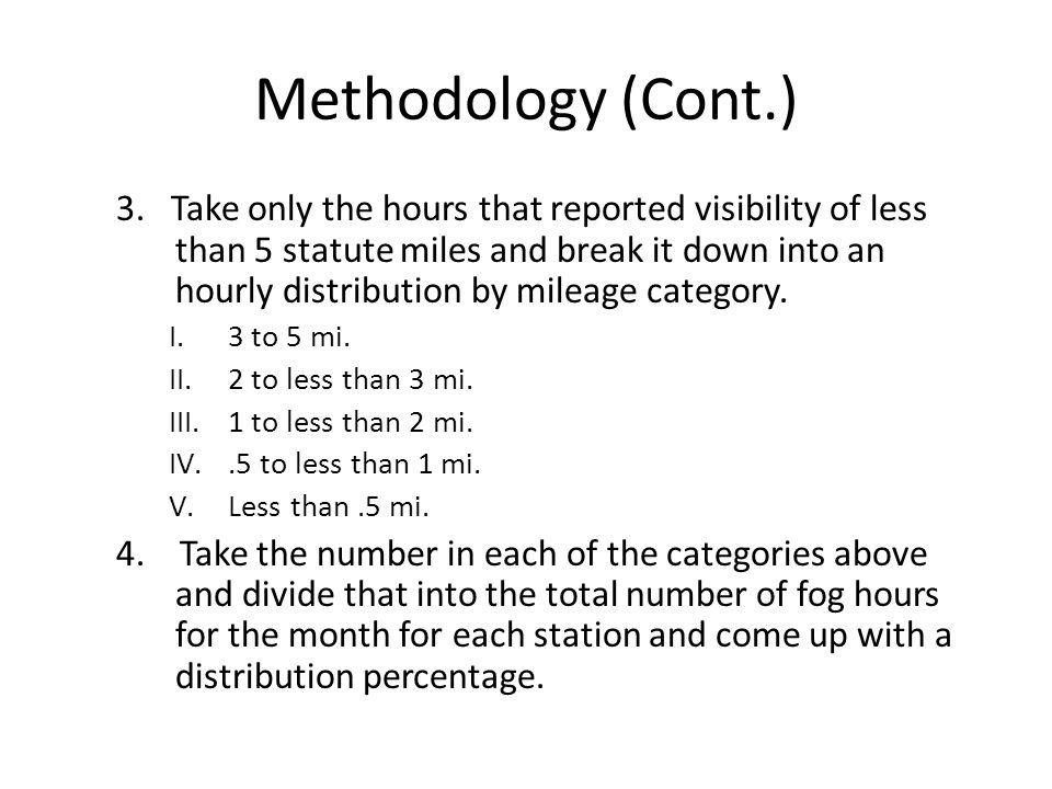 Methodology (Cont.) 5.