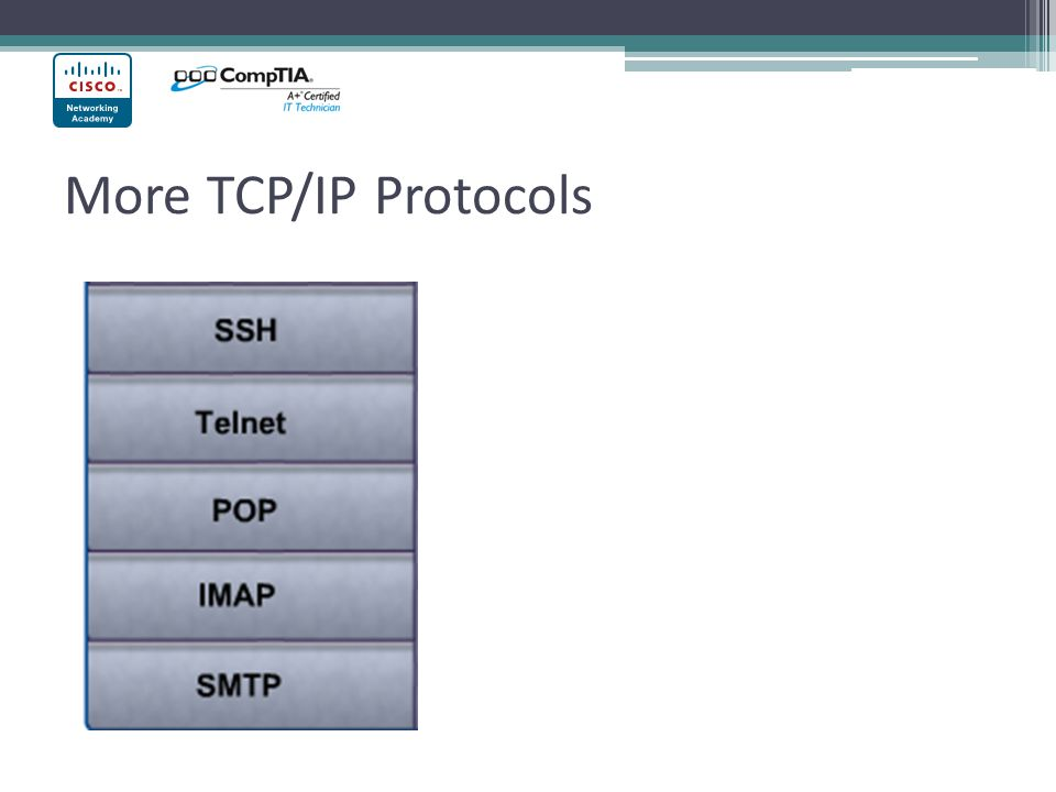 More TCP/IP Protocols