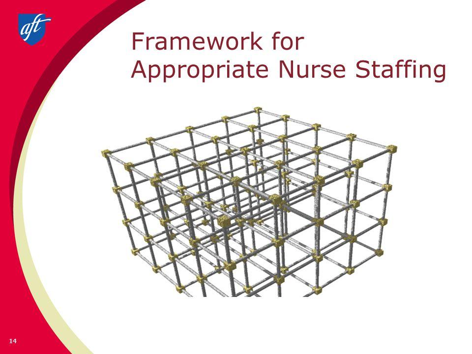 Framework for Appropriate Nurse Staffing 14