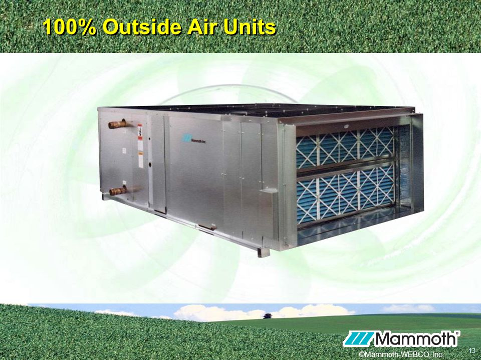 ©Mammoth-WEBCO, Inc. 13 13 100% Outside Air Units