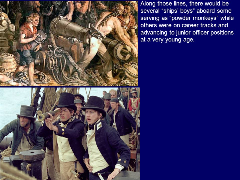 As a result of these labor needs (900 people on Lord Nelsons flagship, the HMS Victory), many sailors were pressed into service from foreign ships, wh