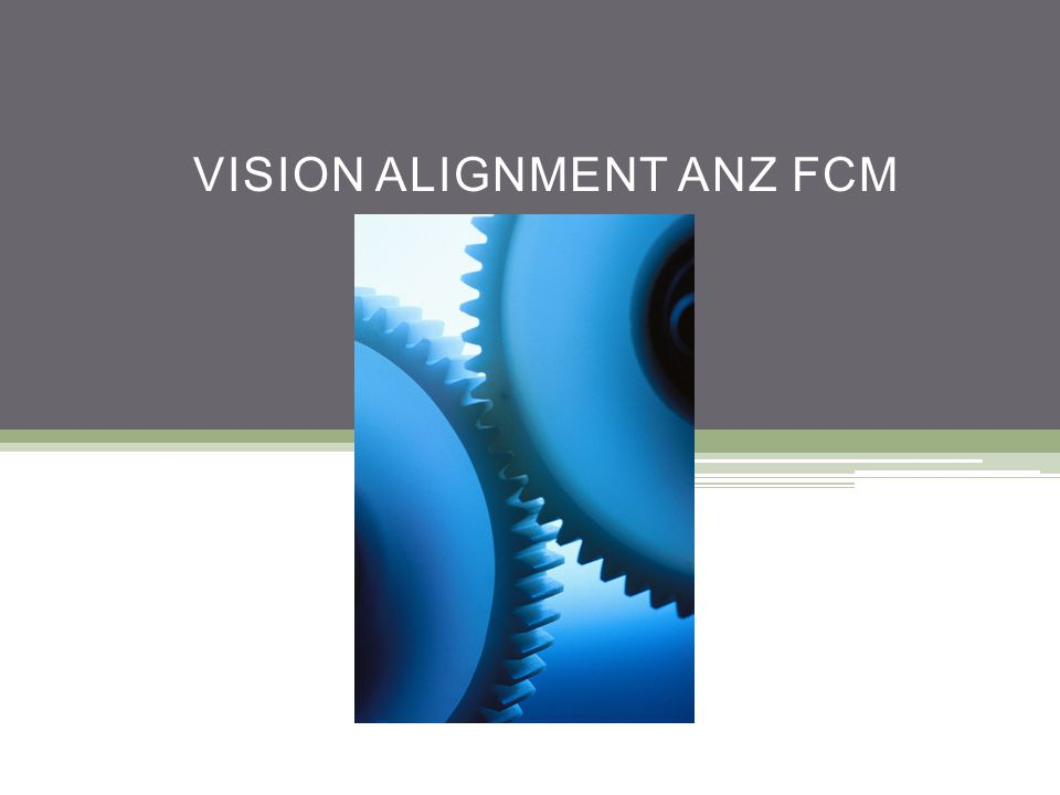 VISION ALIGNMENT ANZ FCM