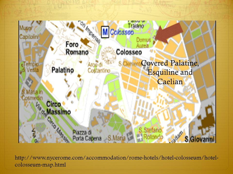 colosseum-map.html Covered Palatine, Esquiline and Caelian