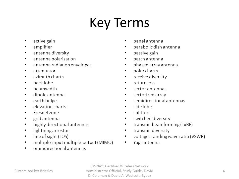 Key Topics 4.1.Active and Passive Gain 4.2.