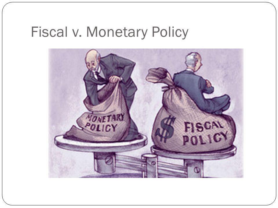 Fiscal v. Monetary Policy