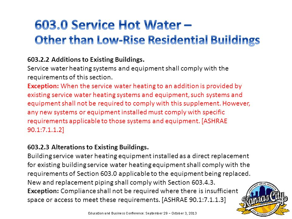 603.2.2 Additions to Existing Buildings.