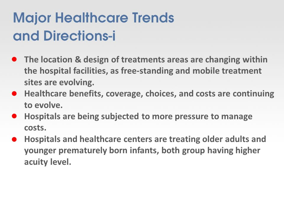 Hospitals are developing technology Planning and construction project management programs to guide their decisions because limited resources are being subjected to competing demands, thus requiring more carefully executed plans Technology planning and Acquisitions teams are created to coordinate the absorption of new and replacement technologies that can contribute to a cost-effective delivery of quality care, these teams may also suggest changes in the current delivery system.