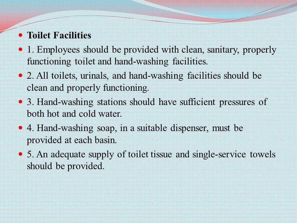 Toilet Facilities 1.