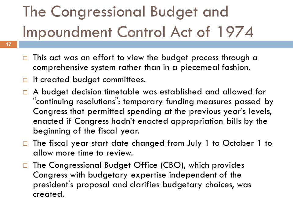 Gramm-Rudman-Hollings (Balanced Budget and Emergency Deficit Control Act of 1985) 18 Gramm-Rudman-Hollings: This act mandated progressively higher annual cuts, through sequestration, to achieve a balanced budget by 1991.