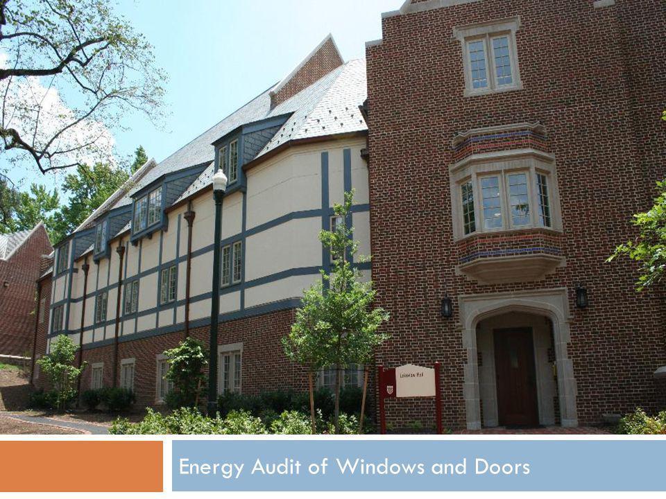 Energy Audit of Windows and Doors