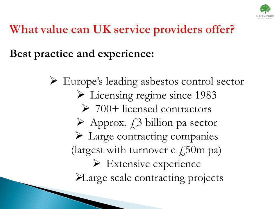 What value can UK service providers offer.