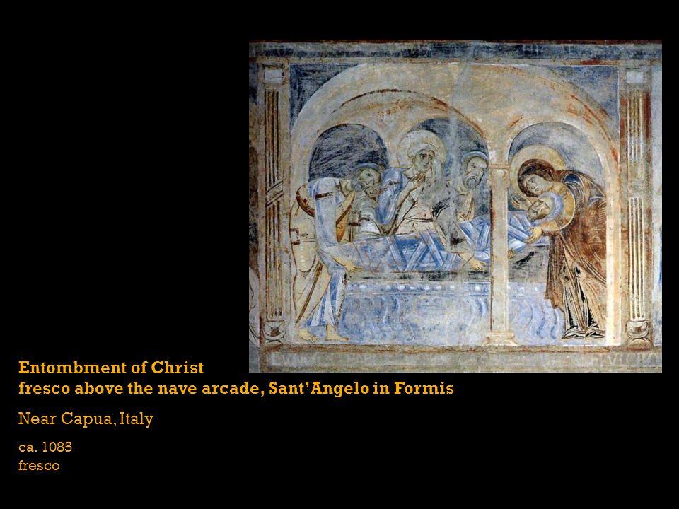 Entombment of Christ fresco above the nave arcade, SantAngelo in Formis Near Capua, Italy ca. 1085 fresco