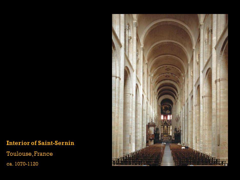 Interior of Saint-Sernin Toulouse, France ca. 1070-1120