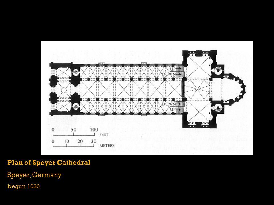 Plan of Speyer Cathedral Speyer, Germany begun 1030