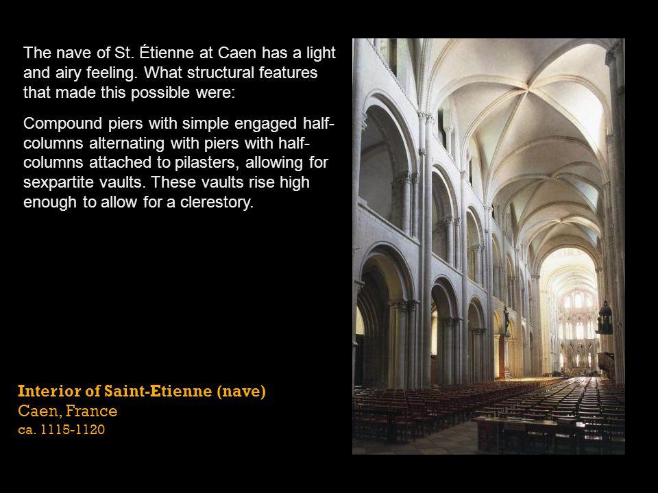Interior of Saint-Etienne (elevation) Caen, France ca. 1115-1120