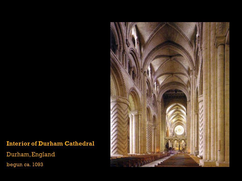 Interior of Durham Cathedral Durham, England begun ca. 1093