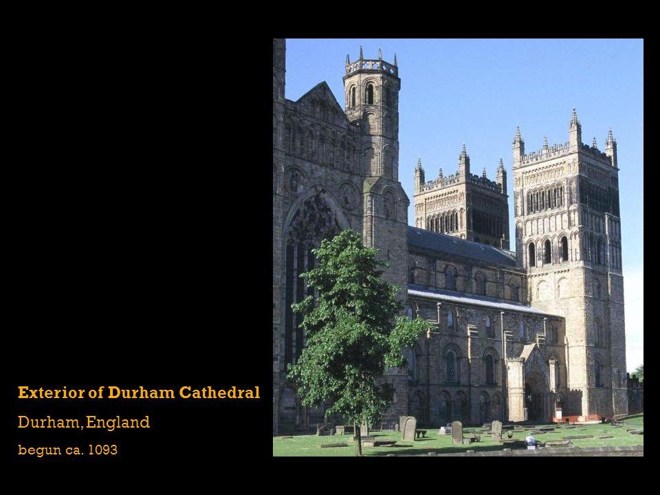 Exterior of Durham Cathedral Durham, England begun ca. 1093