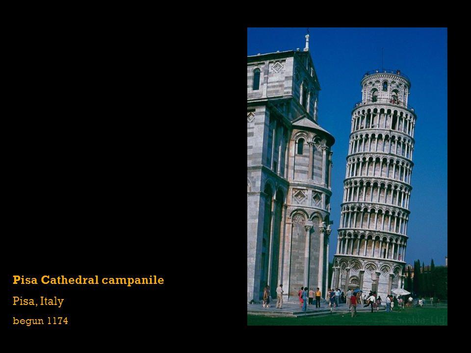 Pisa Cathedral campanile Pisa, Italy begun 1174