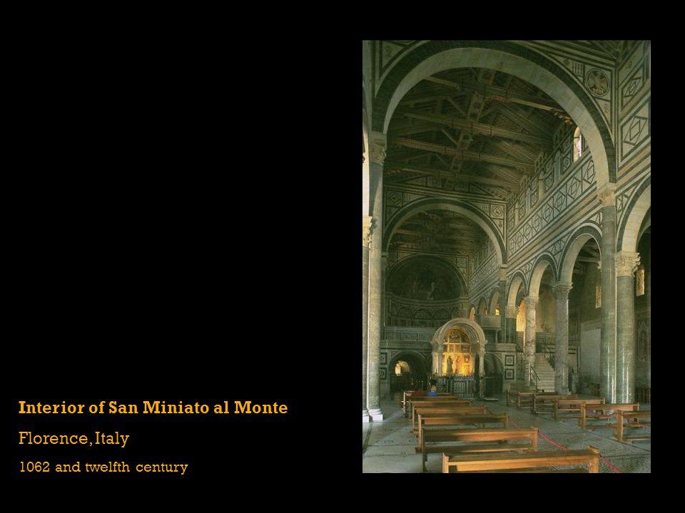Interior of San Miniato al Monte Florence, Italy 1062 and twelfth century