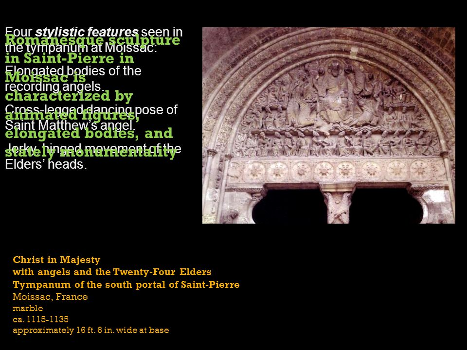 The subject of the tympanum is The Second Coming of Christ as King and Judge of the world.