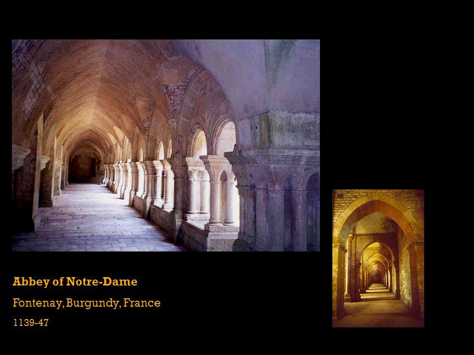 Abbey of Notre-Dame Fontenay, Burgundy, France 1139-47