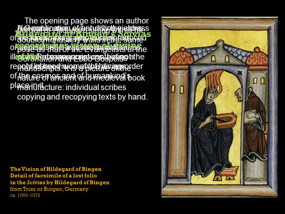 The Vision of Hildegard of Bingen Detail of facsimile of a lost folio in the Scivias by Hildegard of Bingen from Trier or Bingen, Germany ca. 1050-107