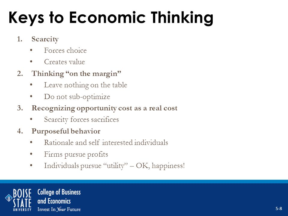 Economic Models 1.Predictive Based on conditioning assumptions Destined to be wrong (a correct one is a lucky one) Extrapolative/inferential Best use is sensitivity analysis.