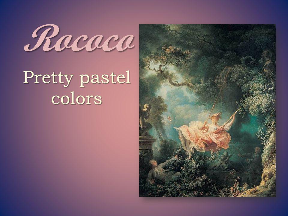 Rococo often portrays aristocracy in frivolous, exotic, fantasy worlds.
