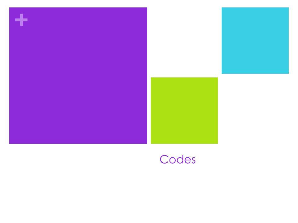 + Codes