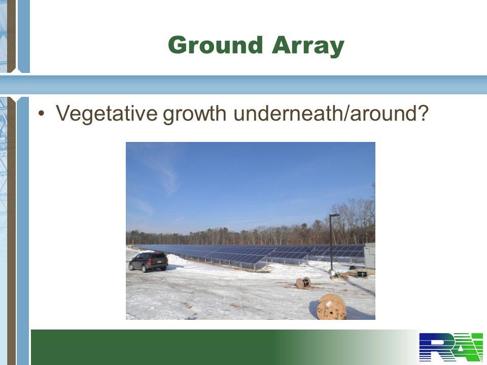 Ground Array Vegetative growth underneath/around?