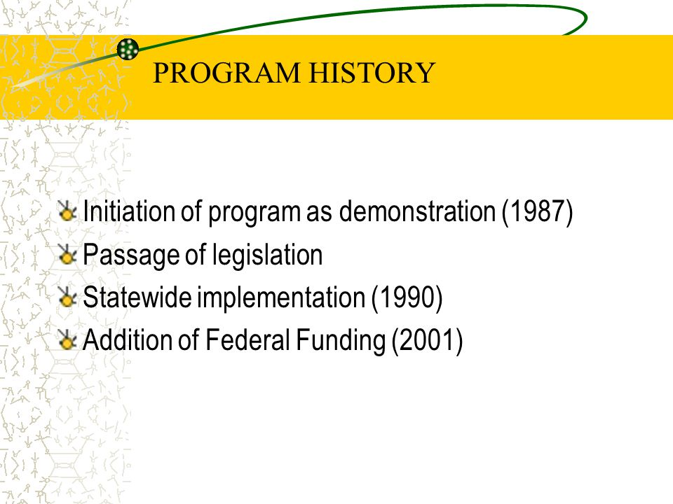Program Impacts Allows more efficient use of public resources for a sub-set of the service population, leaving more for consumers in less supportive living environments Minimizes public interference into the affairs of functional families, while meeting consumer needs Serves as a laboratory for consumerism which has been gradually incorporated into traditional aging home and community based services