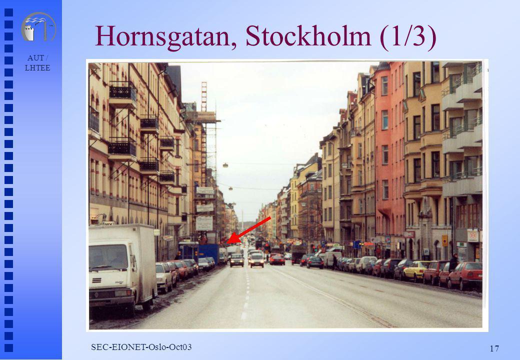 AUT / LHTEE 17 SEC-EIONET-Oslo-Oct03 Hornsgatan, Stockholm (1/3)