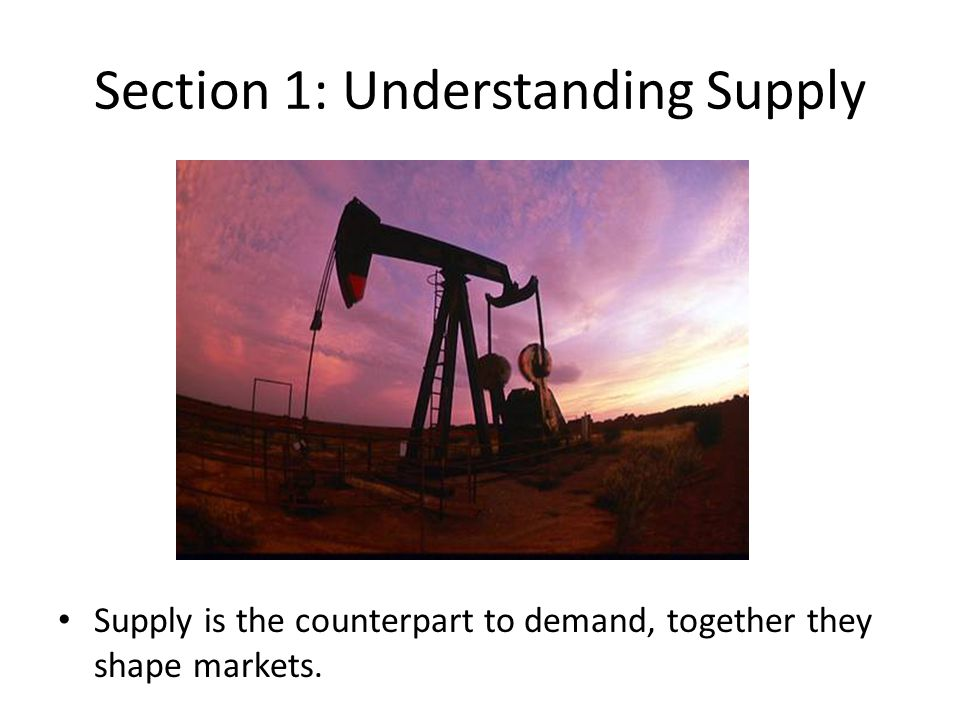 Impacts on Supply: Technology Improved technology often increases the potential supply for goods or services.