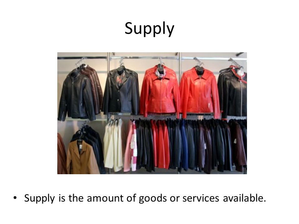 Law of Supply Suppliers will offer more of a good at a higher price, and vice versa. Price Supply