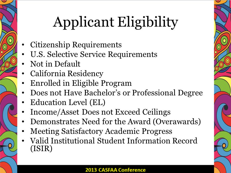 Applicant Eligibility Citizenship Requirements U.S.