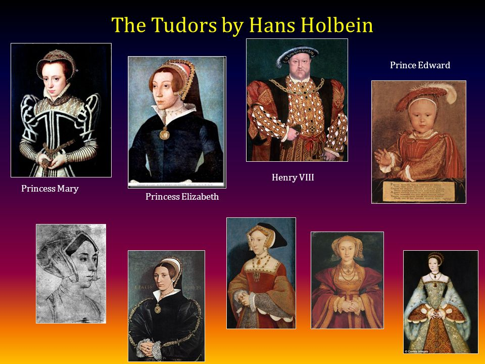 The Tudors by Hans Holbein Princess Mary Princess Elizabeth Prince Edward Henry VIII